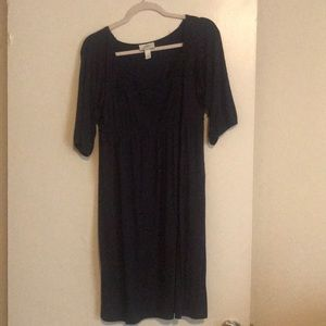 A navy blue knee length purchased from Loft.